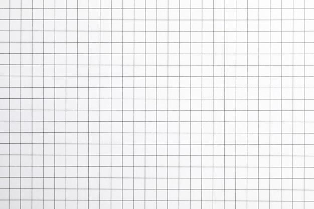 Лист тетради с текстурой сетки как пространство, пространство для текста