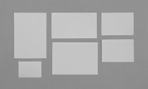 Sheets of paper arrangement
