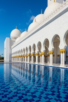 Sheikh zayed mosque at abu-dhabi, uae