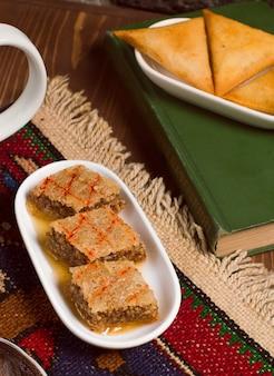 Sheki halvasi, azerbaijani traditional dessert, sweet