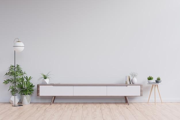 현대 빈 방, 최소한의 디자인의 선반 tv.
