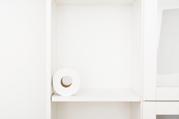 Shelf with toilet paper roll