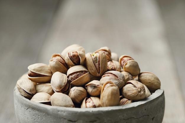 Shelled pistachios, closeup