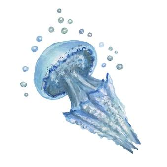 조개 바다 여행 해변 수채화 그림 손으로 그린 인쇄 섬유