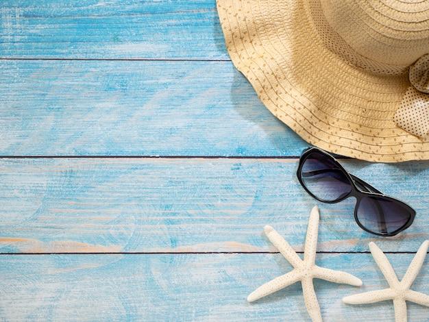 Shells, starfish, hats. holiday ideas
