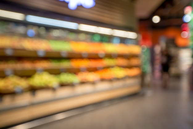 Shelves in the supermarket. store blurred background. vegetables in the supermarket.