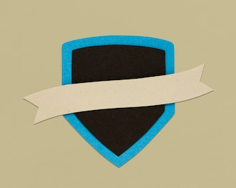 Shield Ribbon Protection Sign Symbol