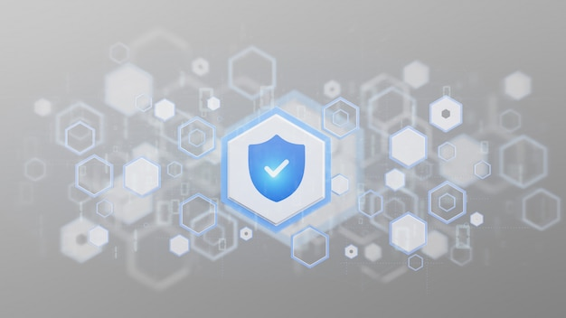 Shield web security background