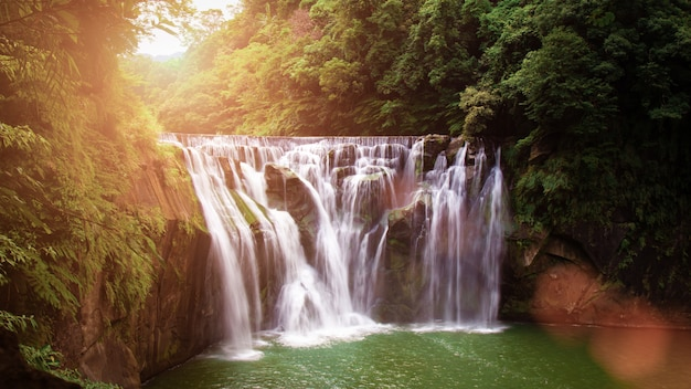 Shifen waterfall, also known as niagara of taiwan