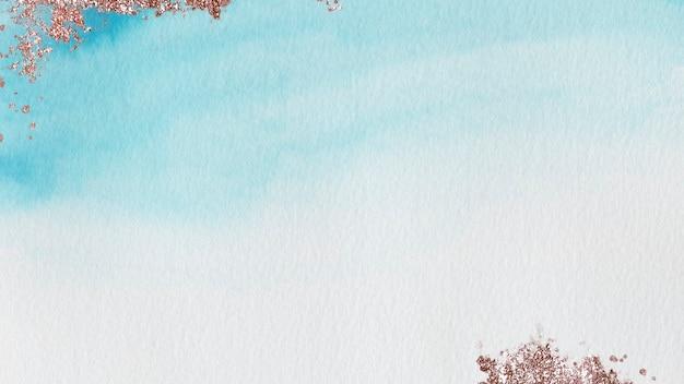 반짝이 푸른 수채화 얼룩 배경