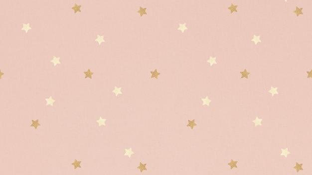 きらめく金の星模様の背景