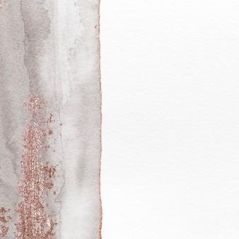 흰 종이 배경에 반짝이는 회색 수채화