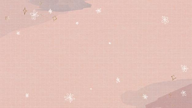 水彩グリッド上のきらめく星