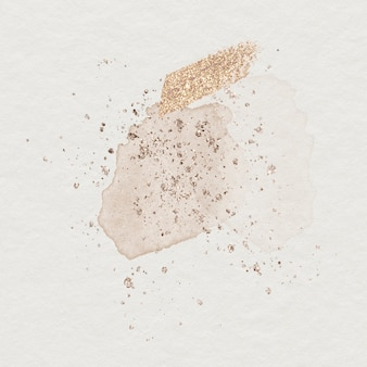 Shimmery watercolor stain beige background