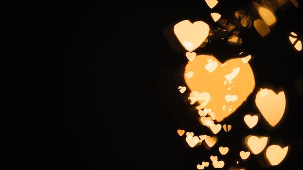 Shine of heart-shaped lights