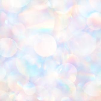 Сияющий в солнечном свете перламутровый многократный объектив бликов боке текстуры фона.