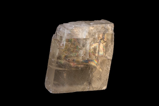 Shining quartz crystal isolated