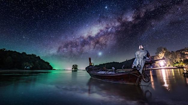 빛나는 별 은하수 은하 무한 우주