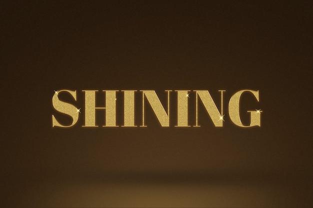 Parola brillante in stile glitter oro
