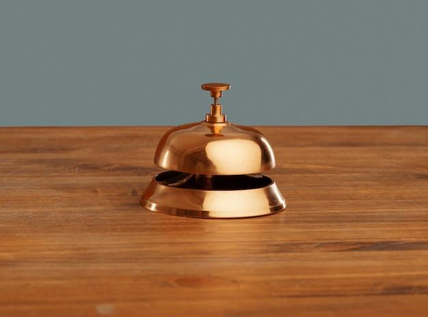 Shiny alert serving gold bell golden