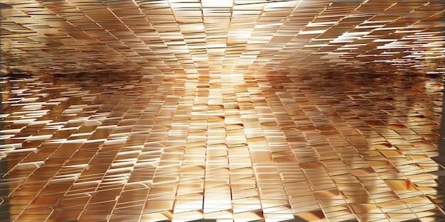 Блестящий фон, отражающая современная концепция, элегантная 3d иллюстрация