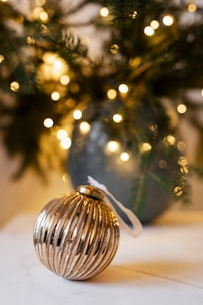 Shiny bauble on the table