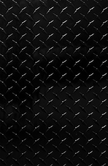 Shiny black metal patterned background