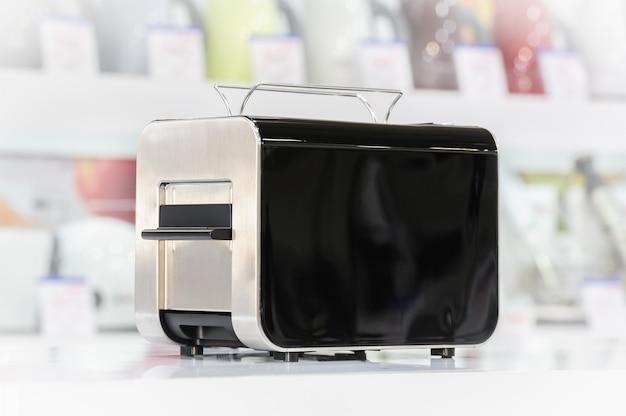 Shiny black toaster