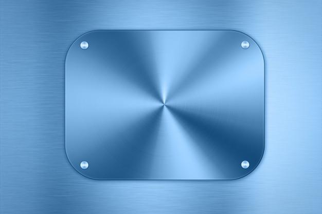 빛나는 파란색 금속 접시 배경