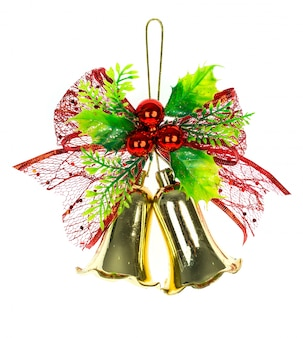 Shiny christmas bells decorated