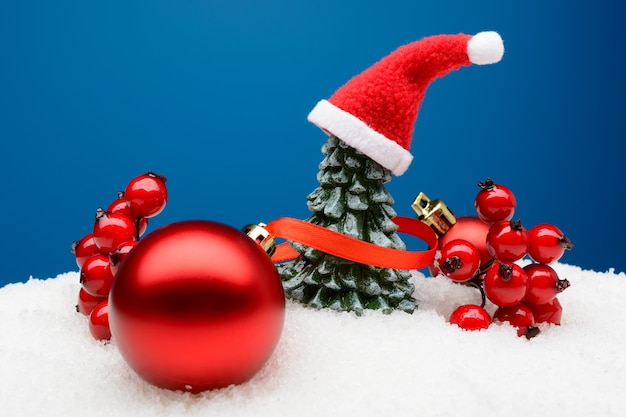 눈에 빛나는 크리스마스 장식