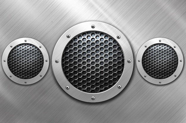Shiny circle metal background for template