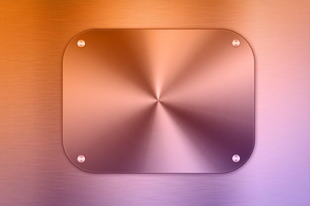 빛나는 색된 금속 접시 배경