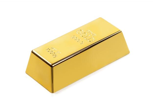 Блестящий золотой слиток