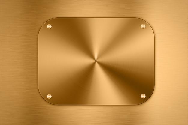 빛나는 황금 금속 접시 배경