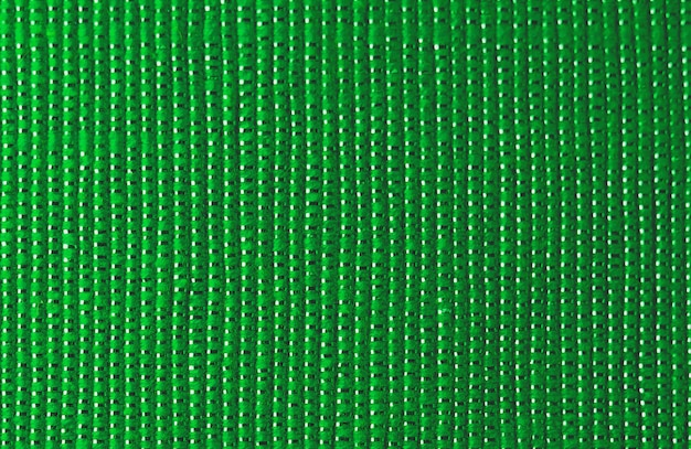 Shiny green fabric texture