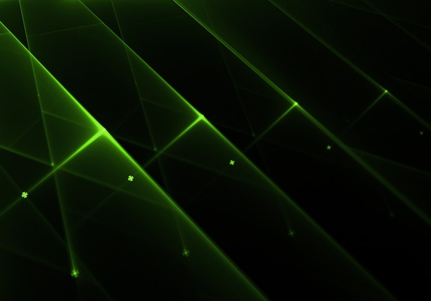 Shiny green lights background