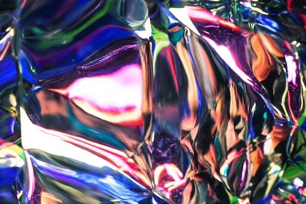光沢のあるホログラフィックアルミニウムテクスチャ背景