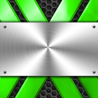 Shiny metal background for template