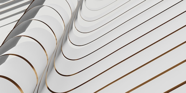 光沢のあるリボンの表面装飾3dイラストの背景がはためく