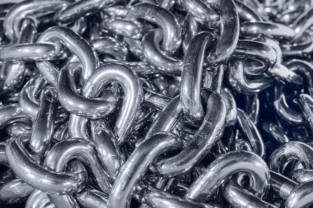 Shiny steel chain