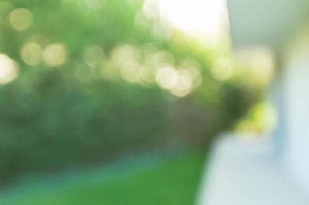 빛나는 햇빛 자연 녹색 bokeh, 추상 흐림 배경