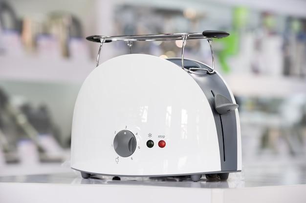Shiny white toaster