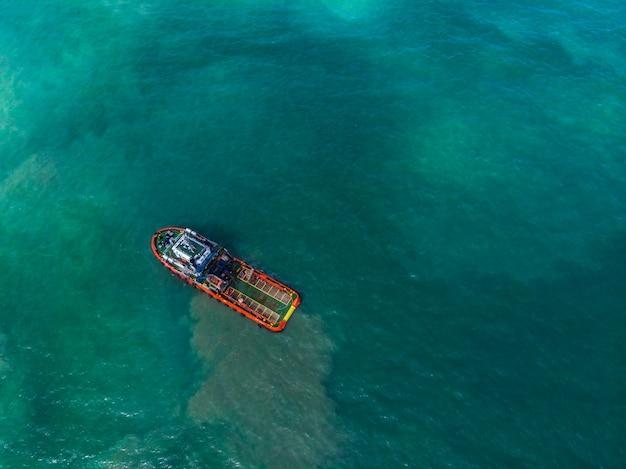 Ship loader tanker on the sea