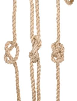고립 된 매듭으로 선박 로프