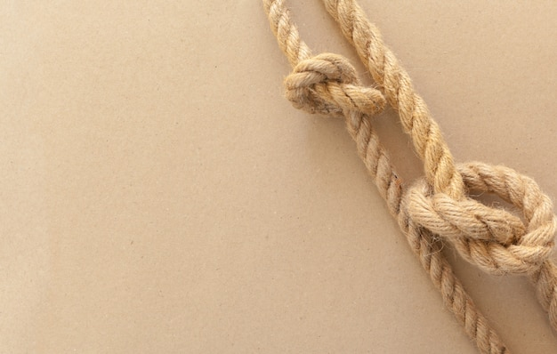 Ship ropes with knot