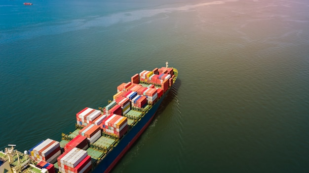Shipping container cargo business international import export consumer product open sea
