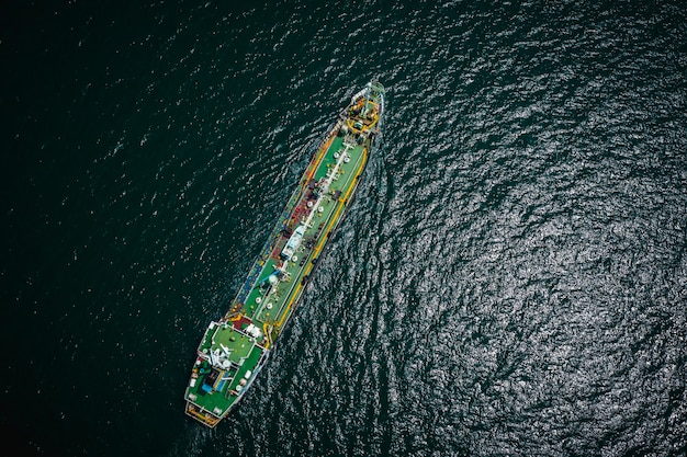 Shipping oil tanker and petrochemical industry import export international by ocean