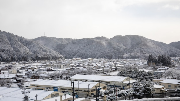 Shirakawa go snow season japan