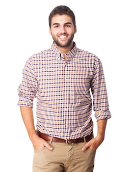 Shirt confident retro man happiness